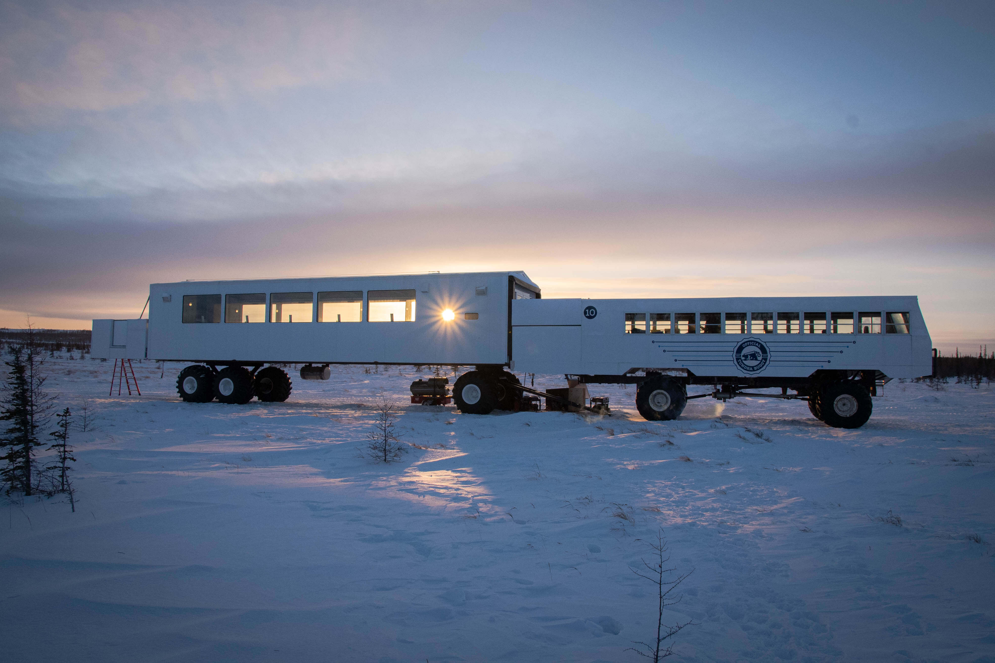 Dan's Diner culinary pop-up restaurant on the frozen tundra in Churchill, Manitoba