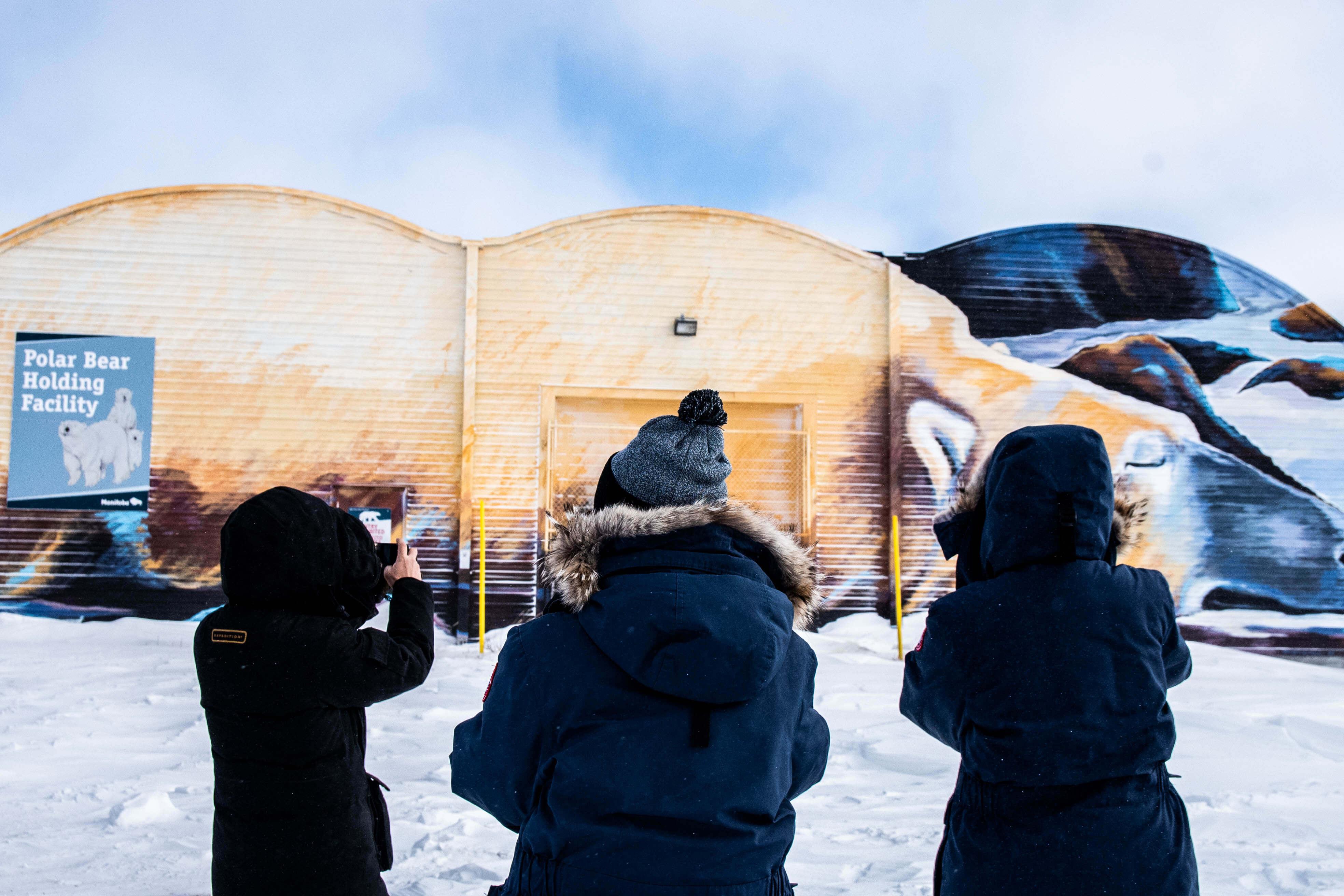 The Polar Bear Holding Facility in Churchill, Canada