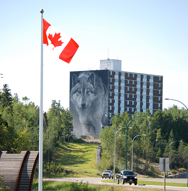 Thompson's wolf mural