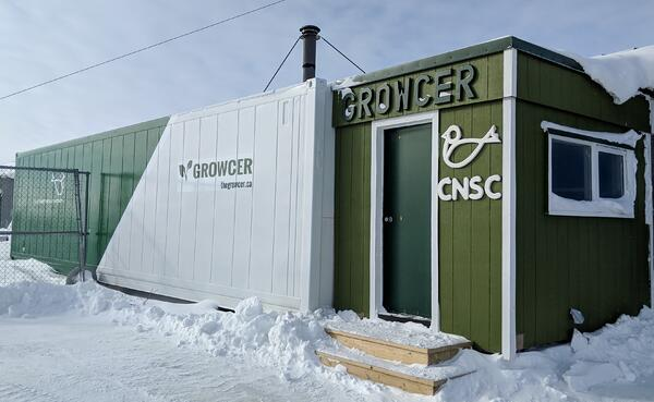 Growcer shipping container in Churchill, Manitoba.