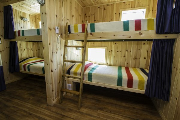 A spacious set of two berths in the Tundra Buggy Lodge