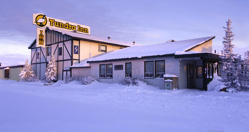 A photo of the Tundra Inn in the snow