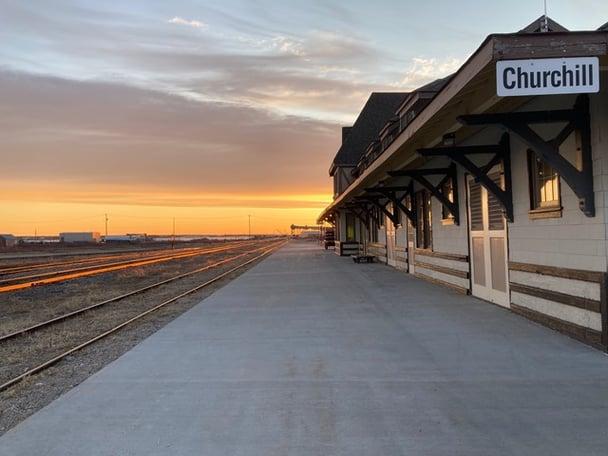 VIA Rail station in Churchill, Canada