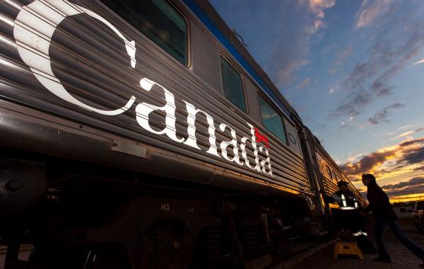A VIA Rail Canada train