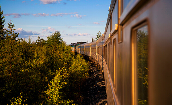 Train journey to Churchill, Canada