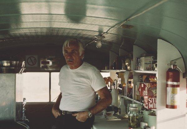 Dan Guravich standing in the original kitchen.